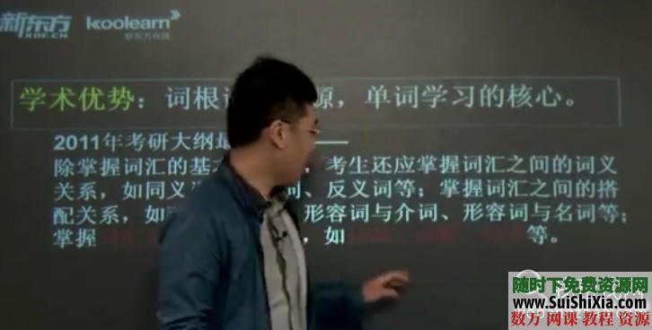 劉一男考研5500英語詞匯視頻教程 第1張