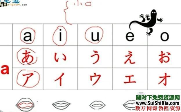 日語50音學習視頻全套課程打包下載 第5張