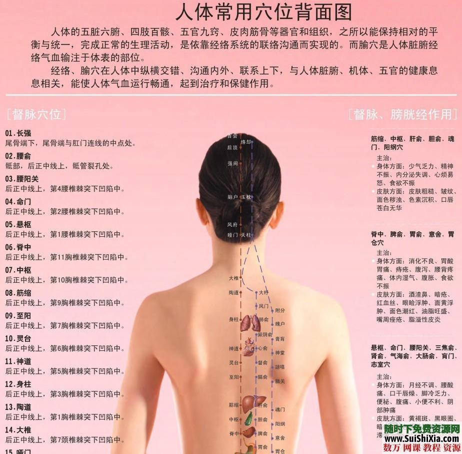 超高清版常用人體穴位經絡圖PDF 第2張