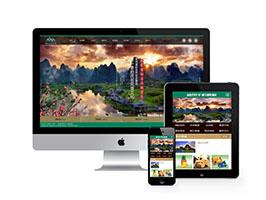 景區旅游旅行官方網站類織夢模板(帶手機端)