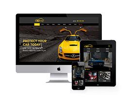 汽車美容維修貼膜工廠網站織夢模板(帶手機端)