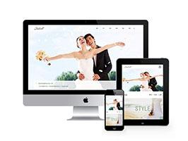 響應式婚紗照攝影類網站織夢模板(自適應手機端)