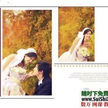 【爱的思念】跨页婚纱模板素材10P
