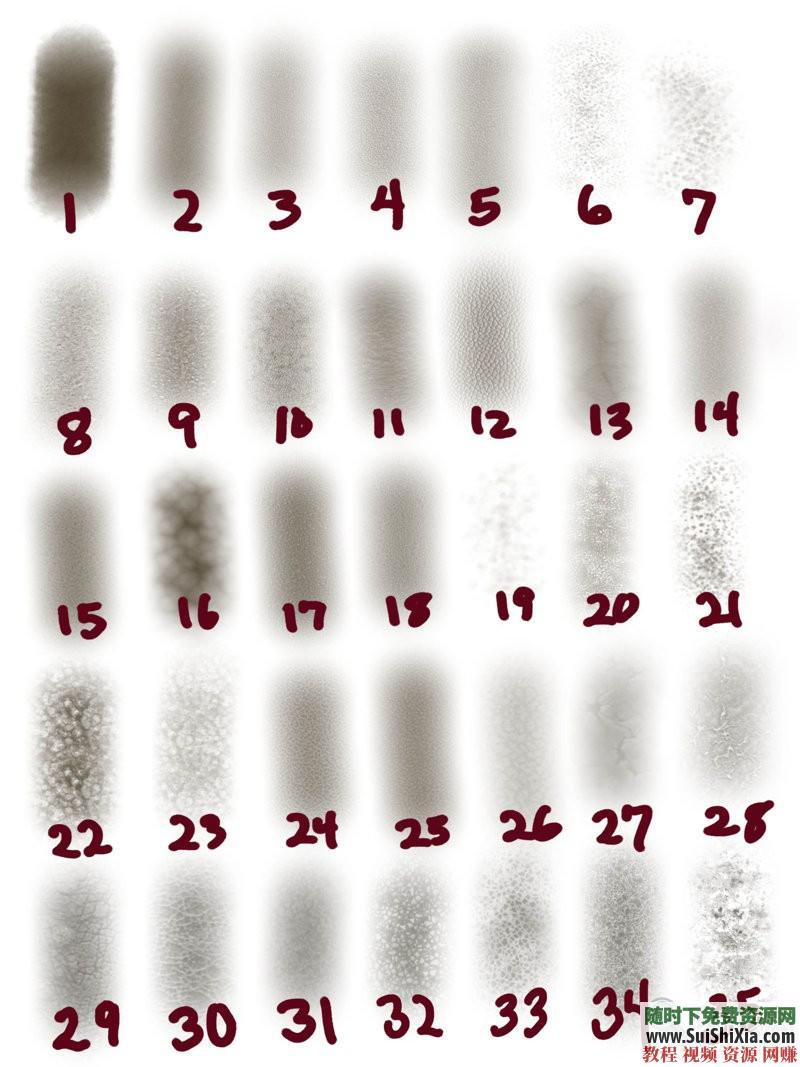 procreate笔刷带预览图 ipad 绘画素材之极品3000 4.5G  绘画素材之极品3000+procreate笔刷带预览图打包4.5G 第7张