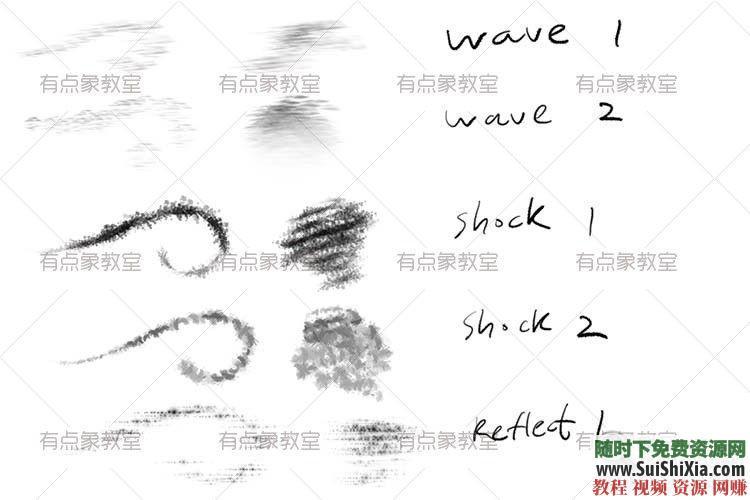 procreate笔刷带预览图 ipad 绘画素材之极品3000 4.5G  绘画素材之极品3000+procreate笔刷带预览图打包4.5G 第12张