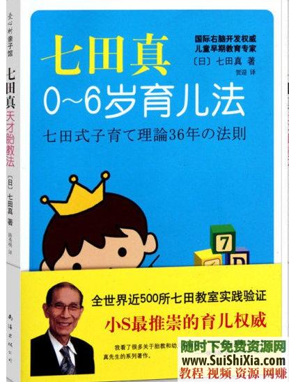 七田真系列课程,包括右脑开发MP4视频和练习手册,迷宫PDF书籍语言启蒙数学