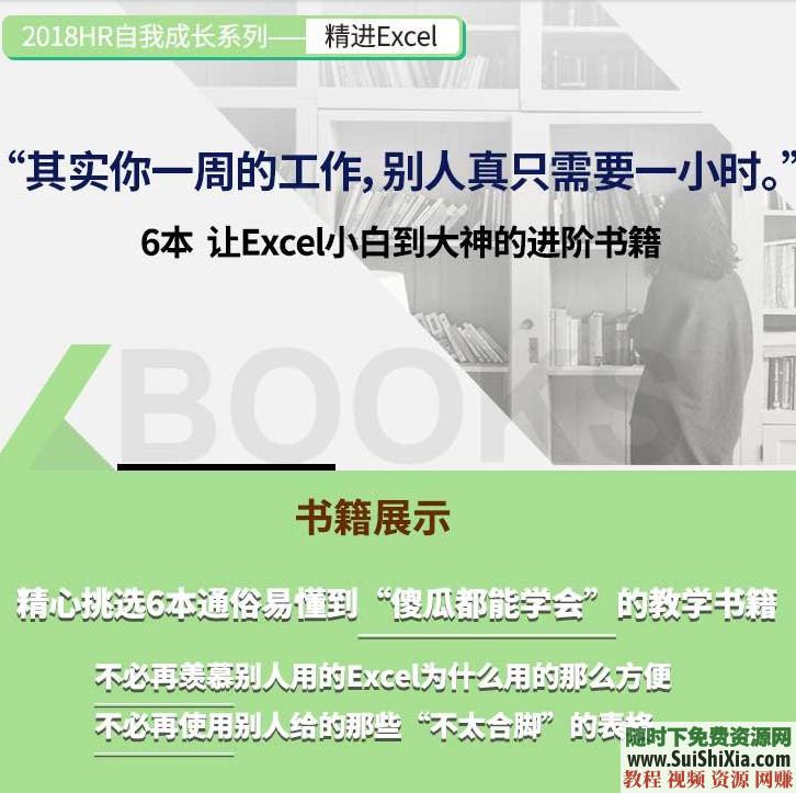 Excel电子书籍6本,本本都是经典,精通表格必备