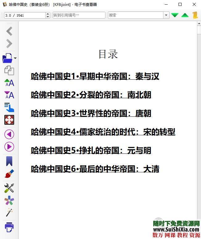 哈佛剑桥中国史Mobi电子书籍 第4张