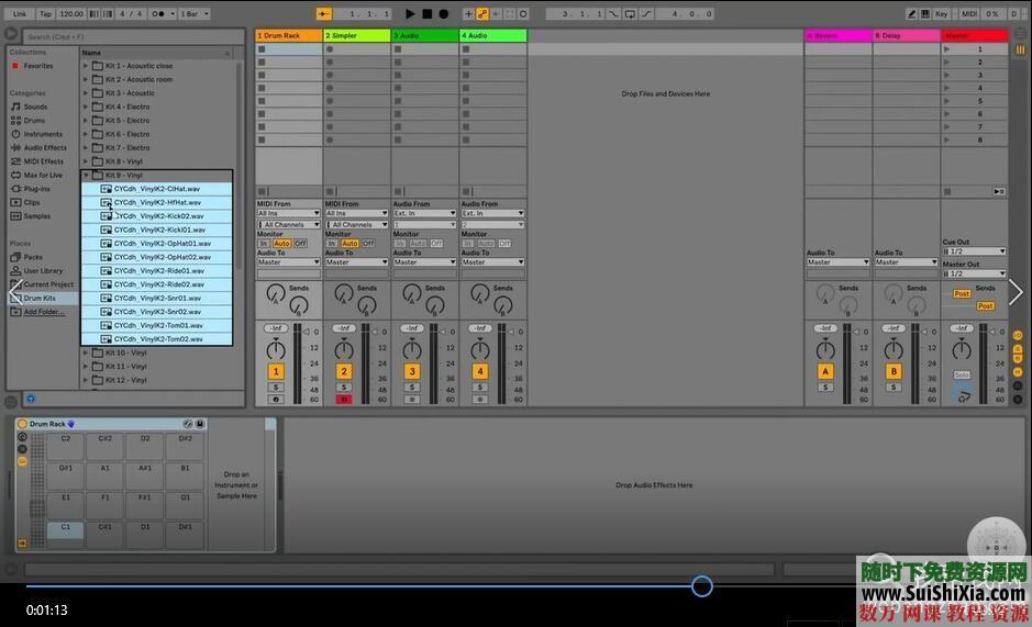 Ableton Live 9和10视频教程共149集(主要是9版本的视频,10版本的较少) 第10张