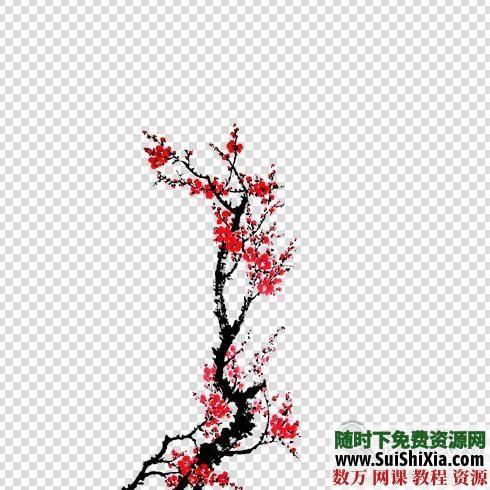 设计极品!5800款中国古风图片资源,大量免抠元素和复古手绘水墨素材 第3张
