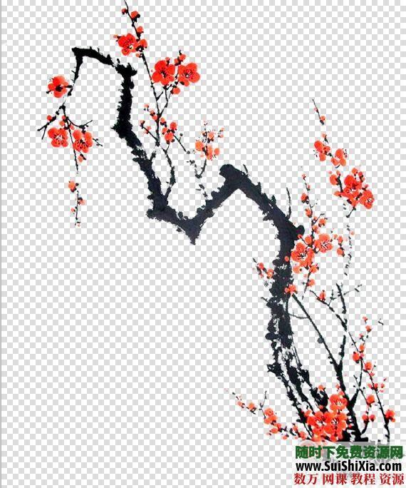 设计极品!5800款中国古风图片资源,大量免抠元素和复古手绘水墨素材 第4张