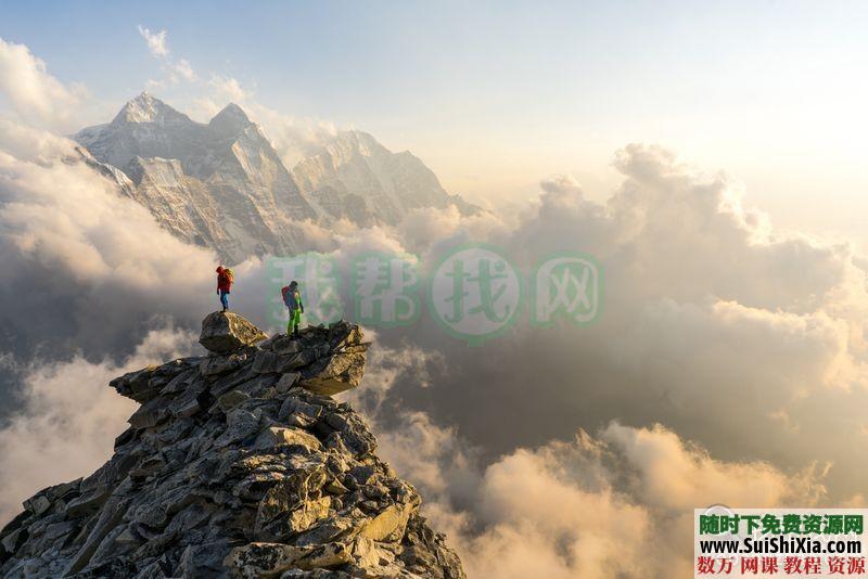 100多张极限攀登徒步登上正能量挑战自我的图片和一个充满能量的视频 第2张