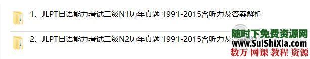 日本语能力测试(JLPT)二级N1+N2历年真题 1991-2015含听力及答案解析 第1张