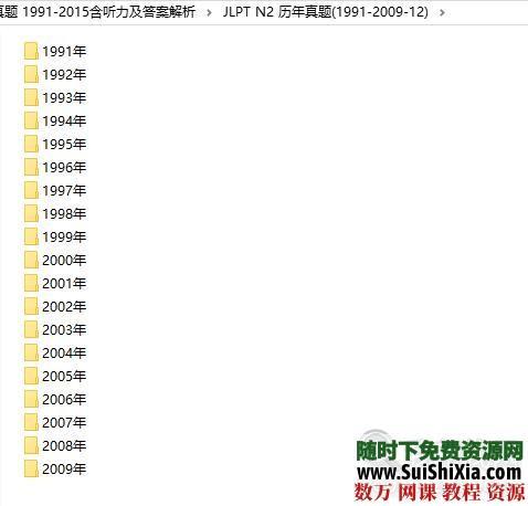 日本语能力测试(JLPT)二级N1+N2历年真题 1991-2015含听力及答案解析 第11张