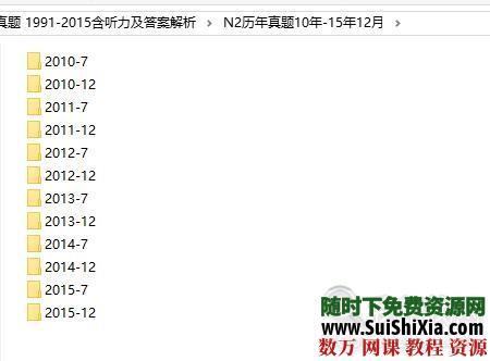 日本语能力测试(JLPT)二级N1+N2历年真题 1991-2015含听力及答案解析 第12张
