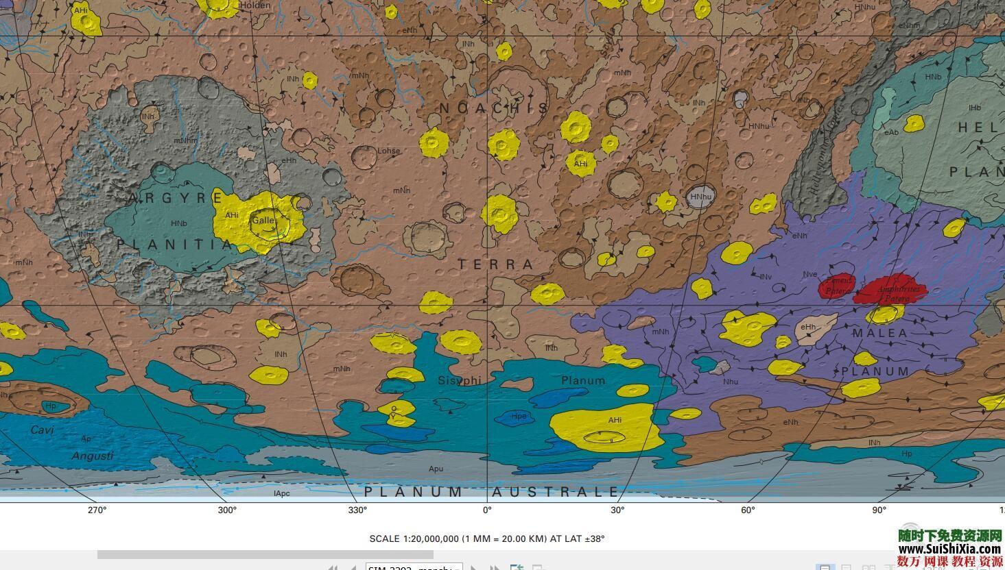 超清英文版【火星地图】 第7张