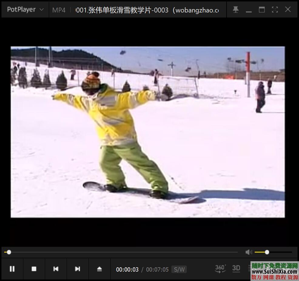 打包国内外最专业的自学单双板滑雪视频教程 第10张