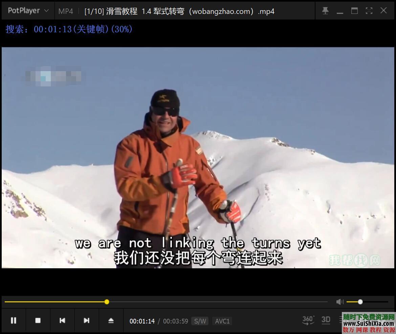打包国内外最专业的自学单双板滑雪视频教程 第12张