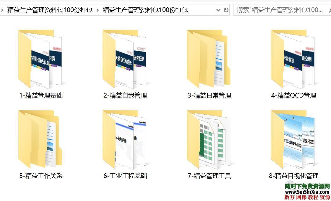 精益生产管理资料包100份打包 第1张