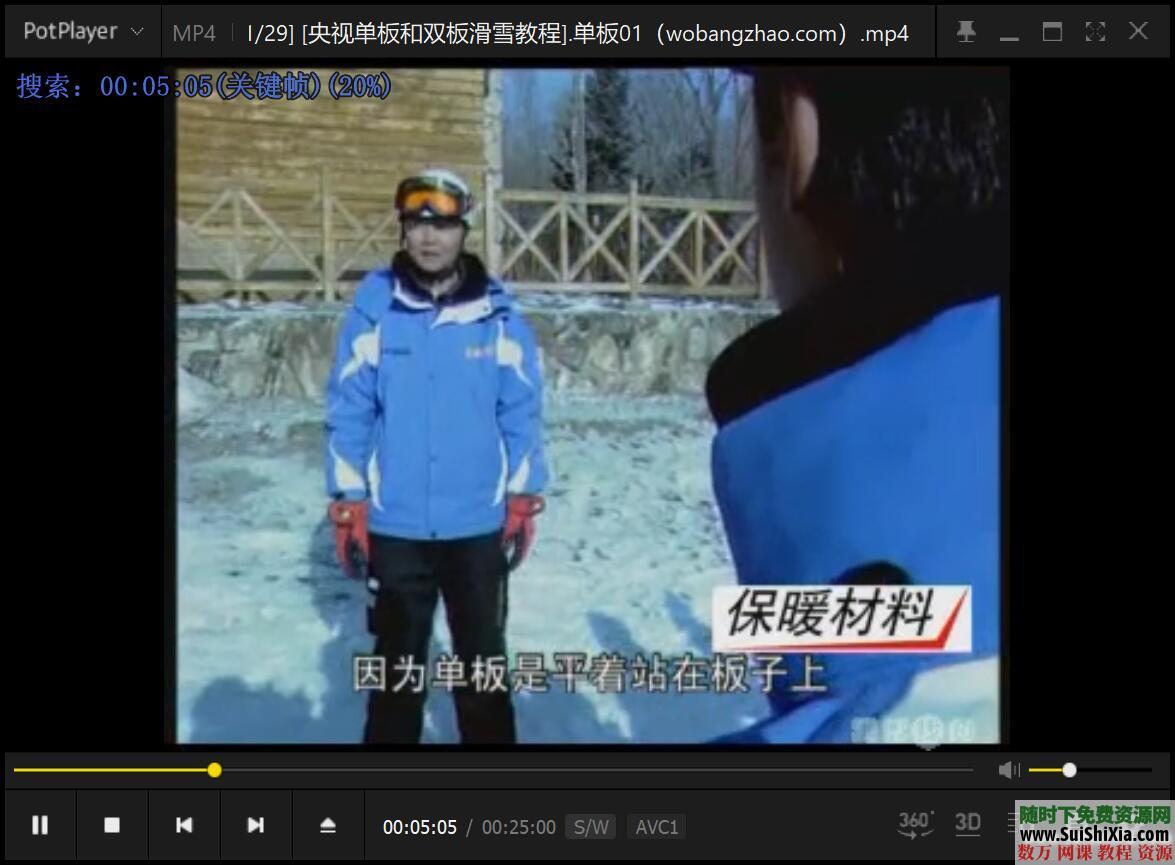 打包国内外最专业的自学单双板滑雪视频教程 第15张