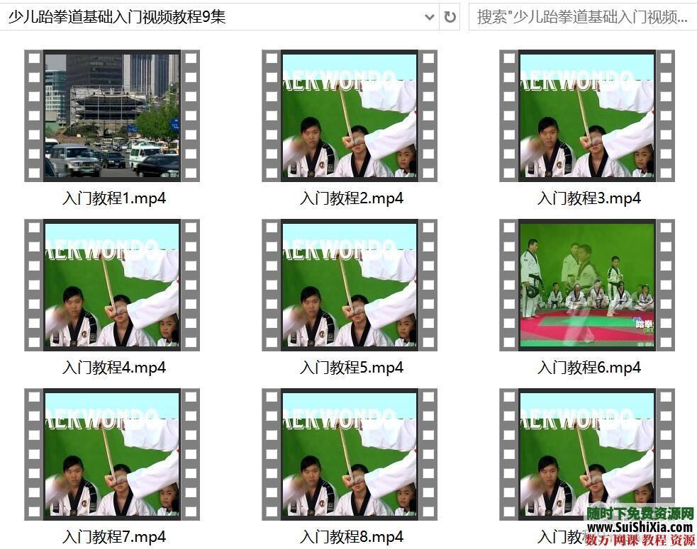 少儿跆拳道基础入门视频教程9集 第1张