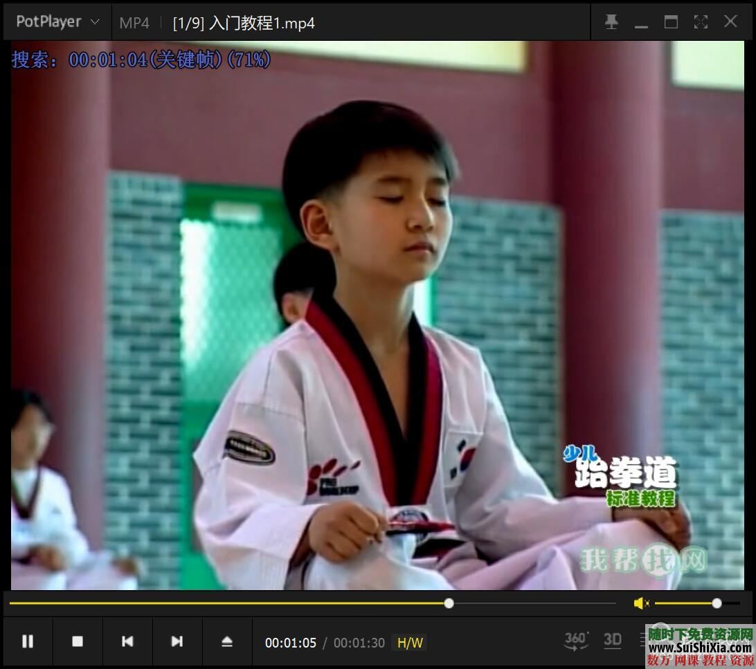 少儿跆拳道基础入门视频教程9集 第5张