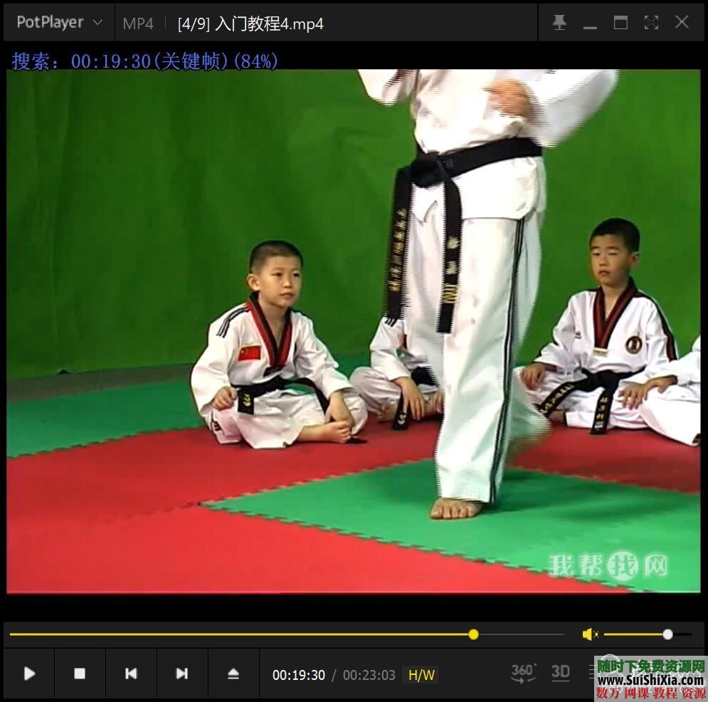 少儿跆拳道基础入门视频教程9集 第7张