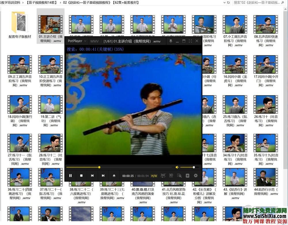 自学演奏吹笛子视频教程吹竹笛全集乐器音乐曲谱笛声指法教学培训资料 第4张