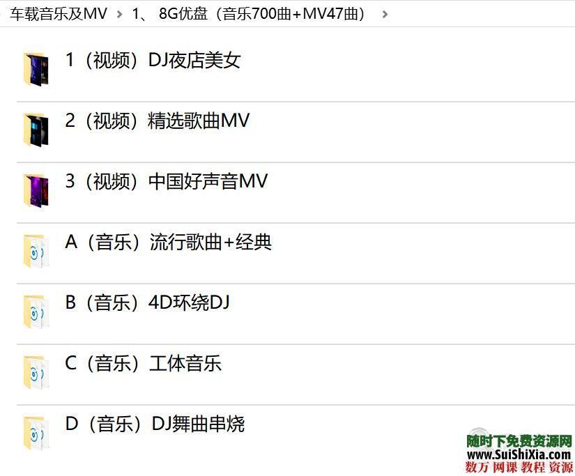 打包69G流行车载音乐1100曲和MV高清视频500个劲爆舞曲 第2张