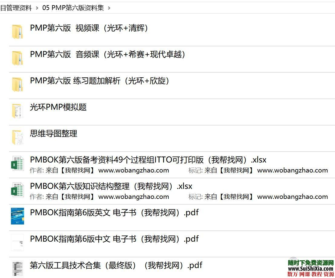 2019考试【第六版PMP项目管理】资料培训课程视频教程 第11张