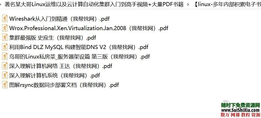 著名某大哥Linux运维以及云计算自动化集群入门到高手视频+大量PDF书籍 第9张