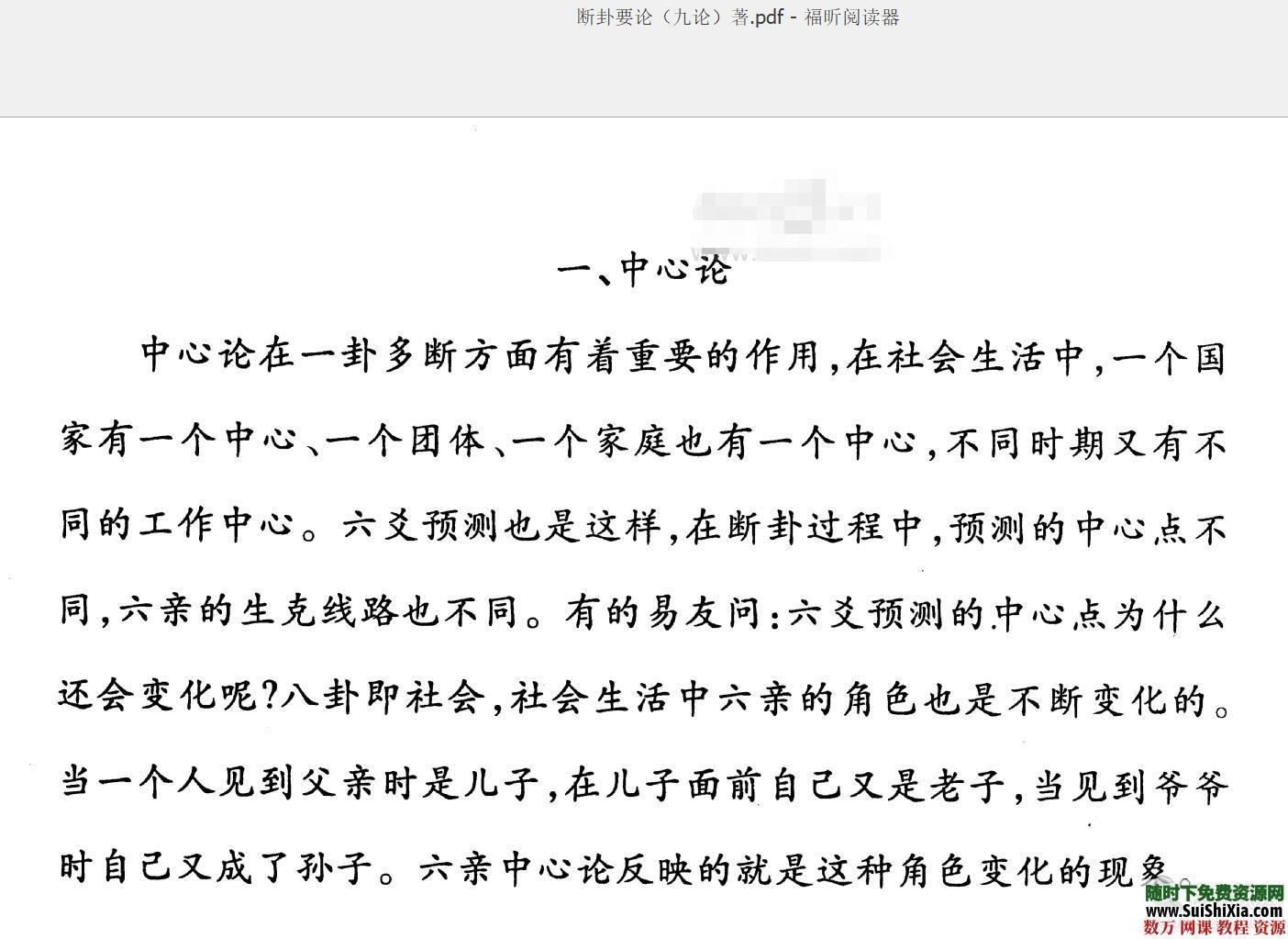 张代祥八字六爻断卦学习理论新法等PDF资料18本打包 第1张