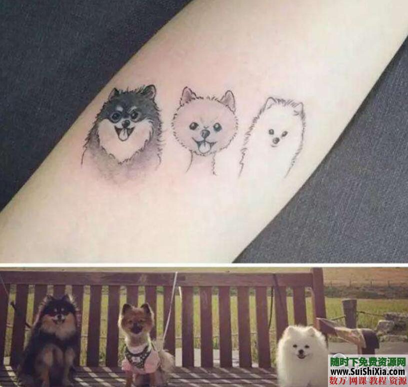 纹身教程视频教学半永久刺青学习入门自学培训课程手稿图案大全 第3张