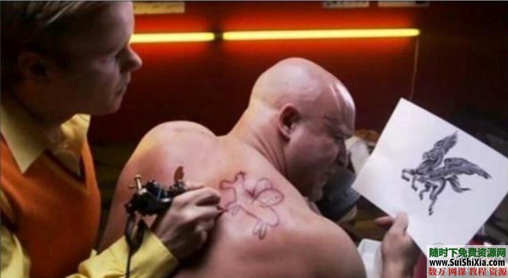 纹身教程视频教学半永久刺青学习入门自学培训课程手稿图案大全 第9张