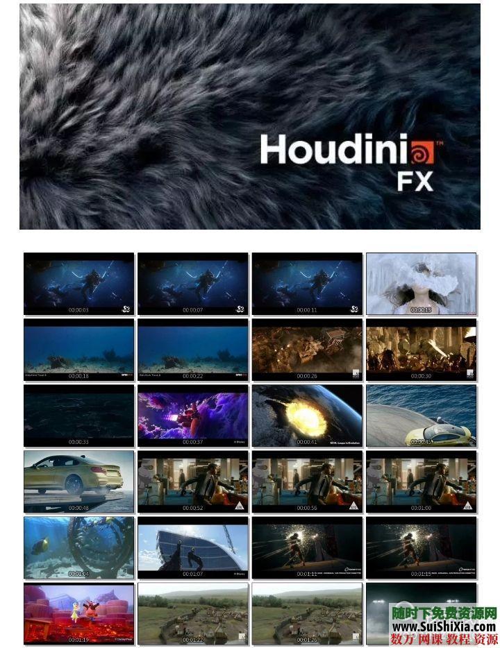 160G打包电影Houdini特效软件视频教程 第1张