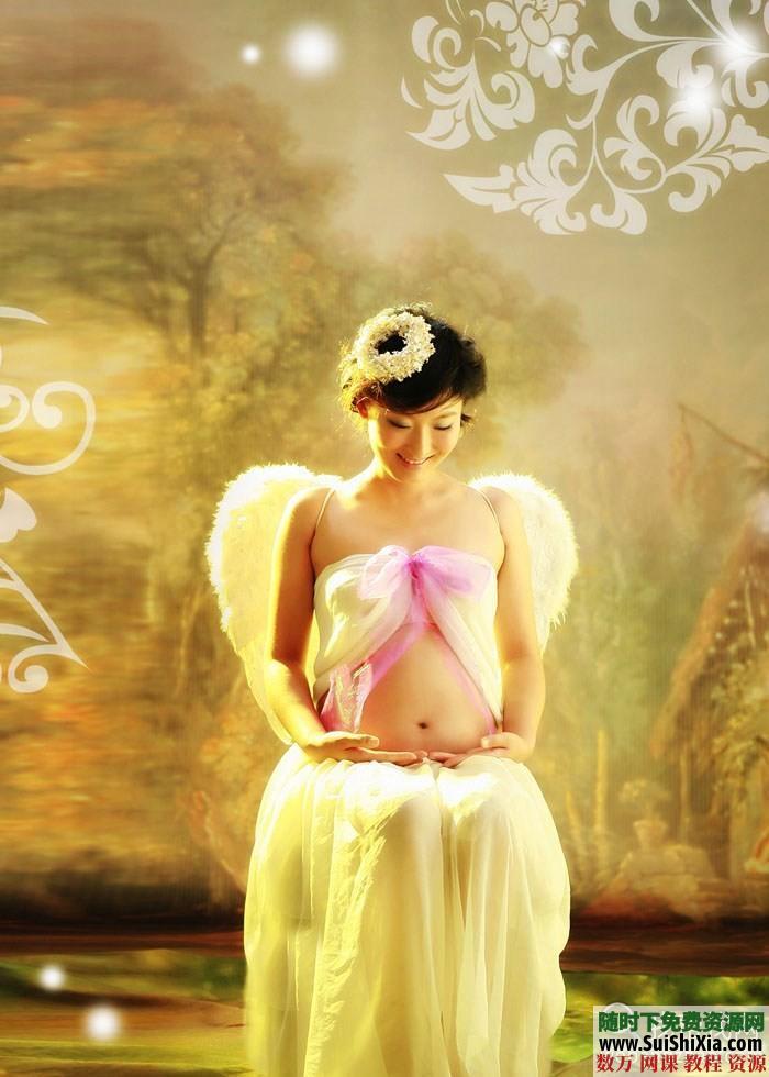 孕妇照相拍照pose姿势样片大全 第1张