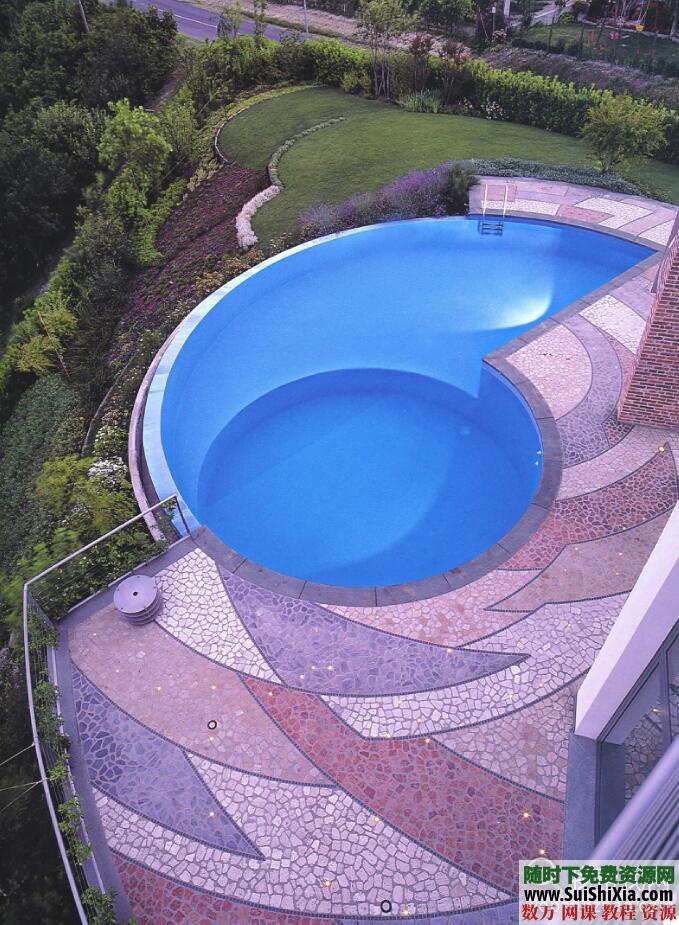 大量游泳池效果图实景图设计图打包 第4张