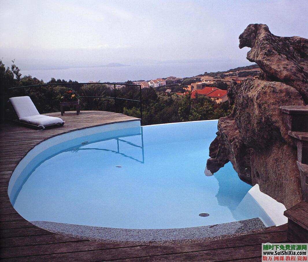 大量游泳池效果图实景图设计图打包 第6张