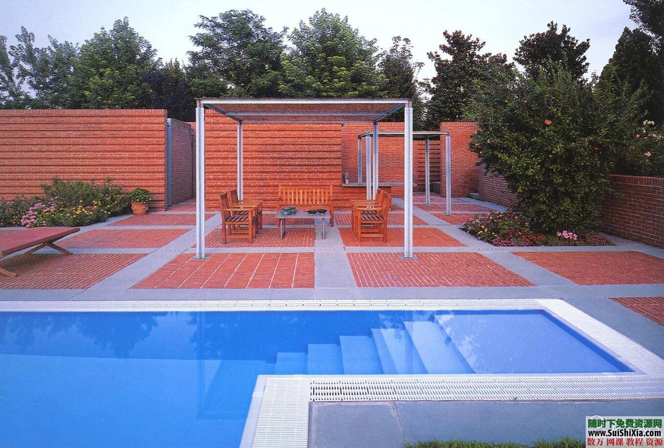 大量游泳池效果图实景图设计图打包 第9张