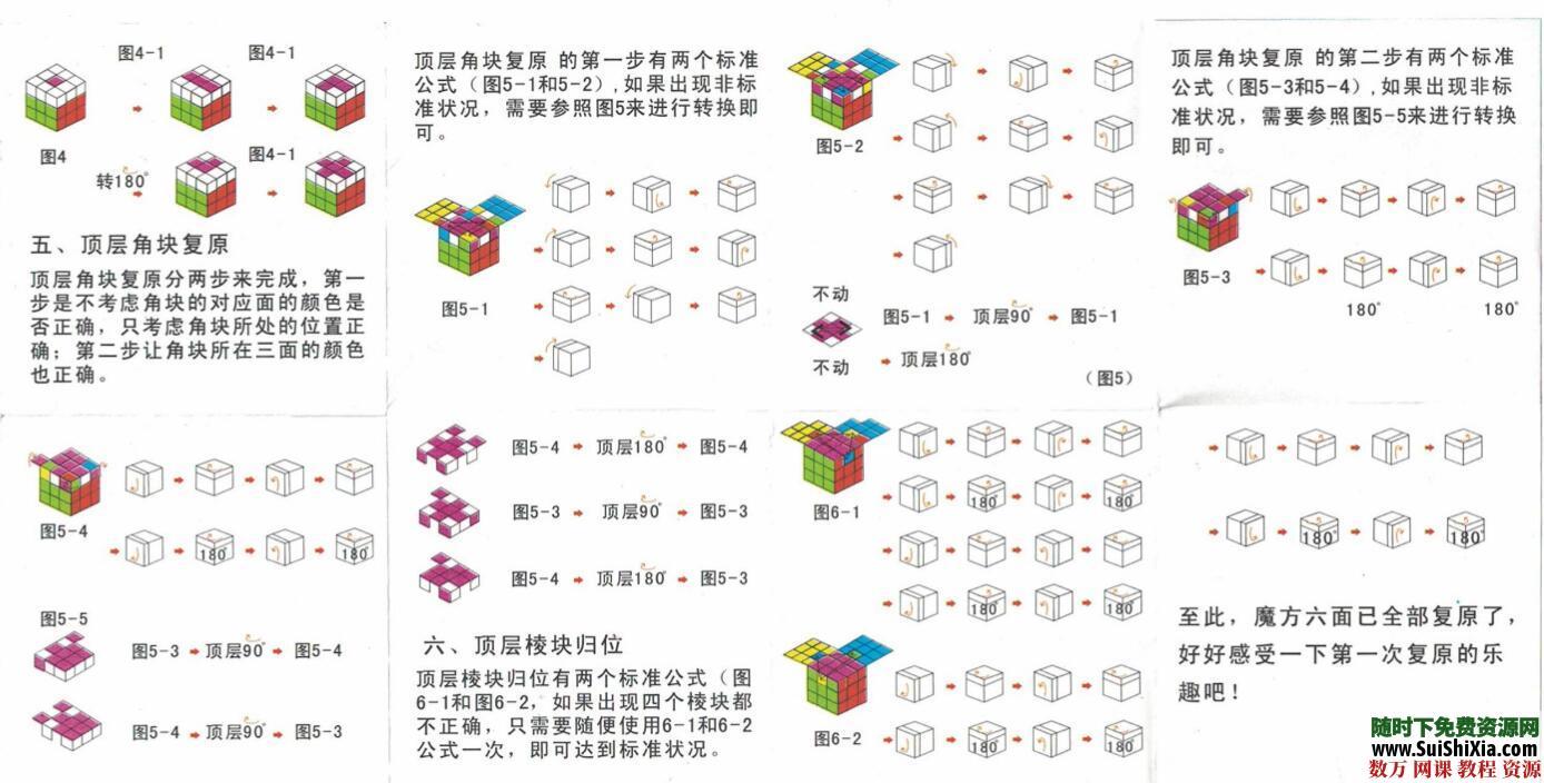 大量三阶四阶五阶六阶魔方还原教程资源,以及其他益智竞速玩具教程下载 第4张