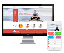 橙红大气瑜伽美容健身企业官网织梦模板+wap手机端同步