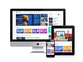 響應式自媒體運營培訓教程類網站織夢模板(自適應手機端)