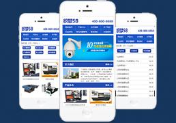 蓝色机械电子产品展示类企业织梦手机模板