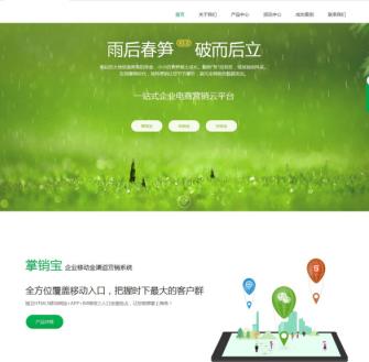 电子商务营销类企业dedecms模板